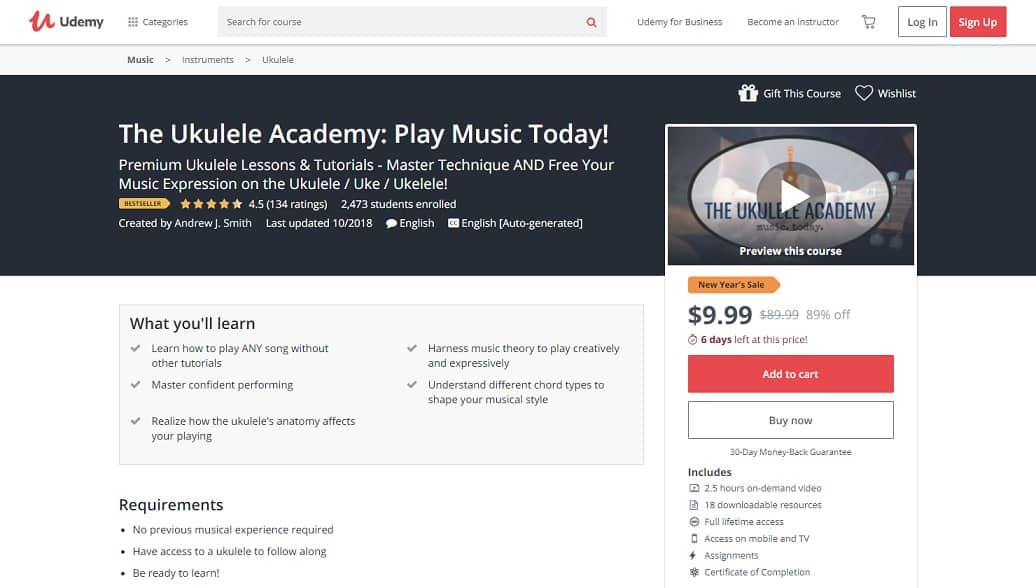 udemy-course-1 Ukulele Lessons for Beginners