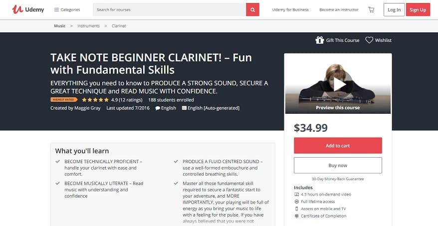 udemy-course3 Clarinet Lessons for Beginners