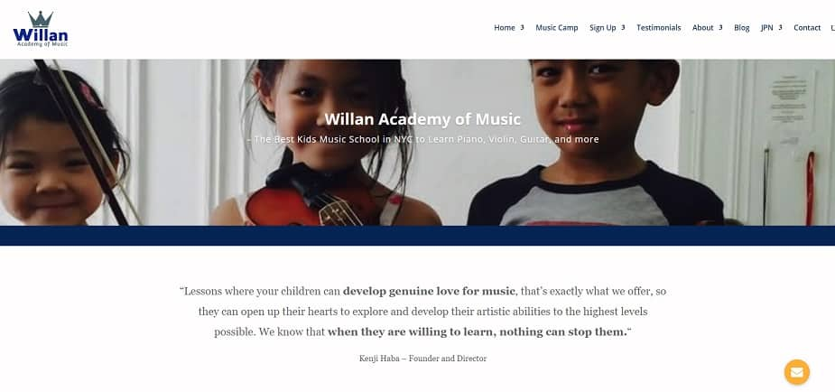 Willan Academy of Music Violin Lessons New York