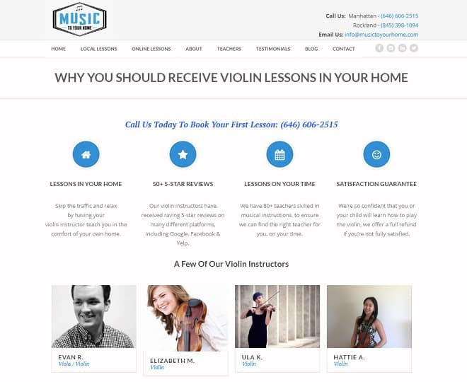 musictoyourhome Violin Lessons New York