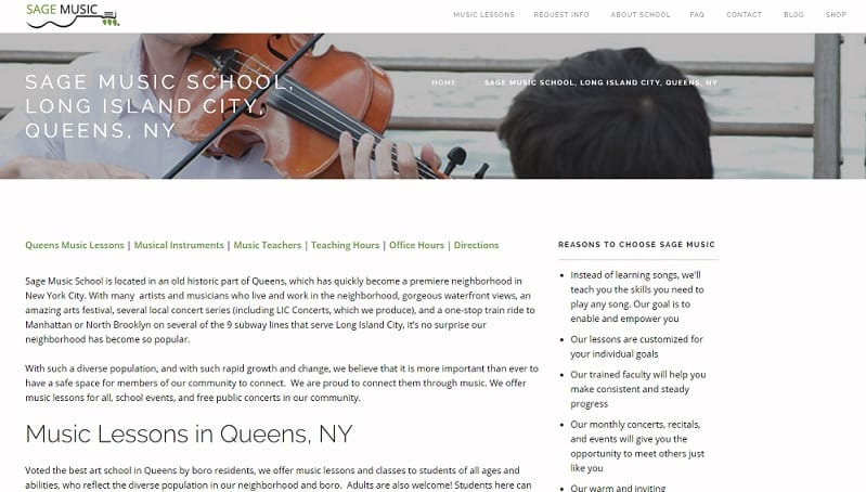 Sage Music Violin Lessons New York