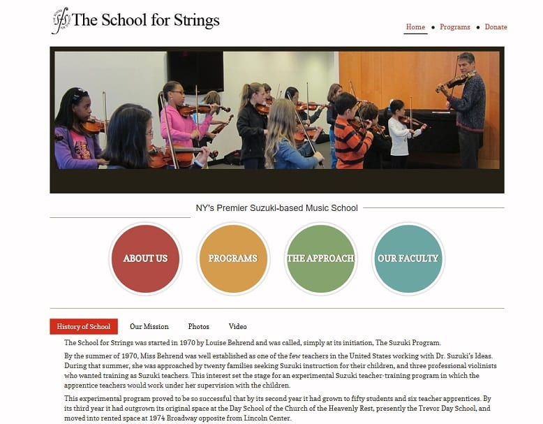 schoolforstrings Violin Lessons New York