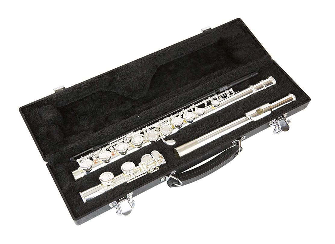 LJ Hitchen Silver c Flute with Hardshell Case