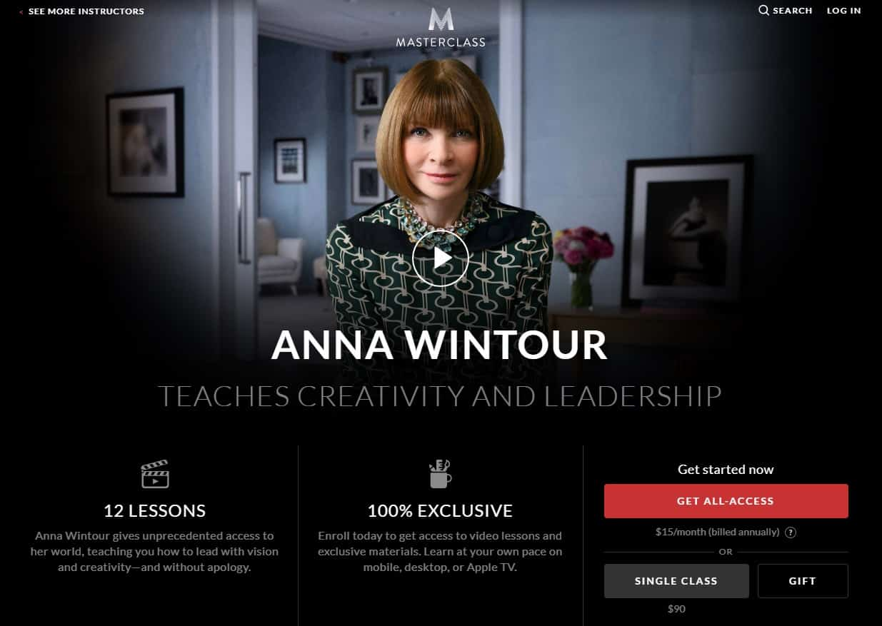 MasterClass Anna Wintour Creativity and Leadership Lesson Review