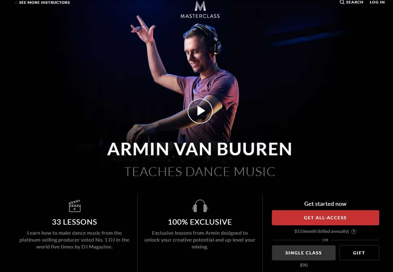 MasterClass Armin Van Buuren Dance Music Lesson Review