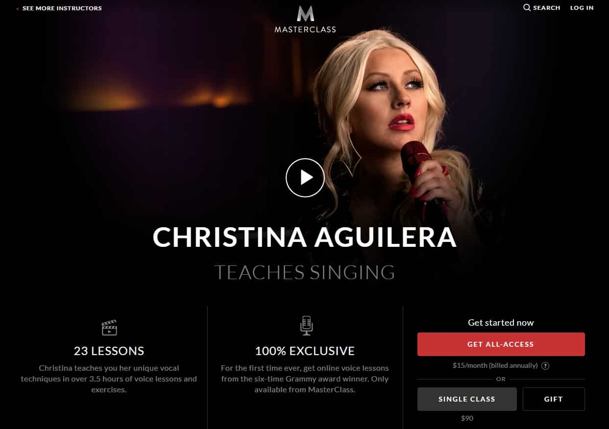 MasterClass Christina Aguilera Singing Lesson Review