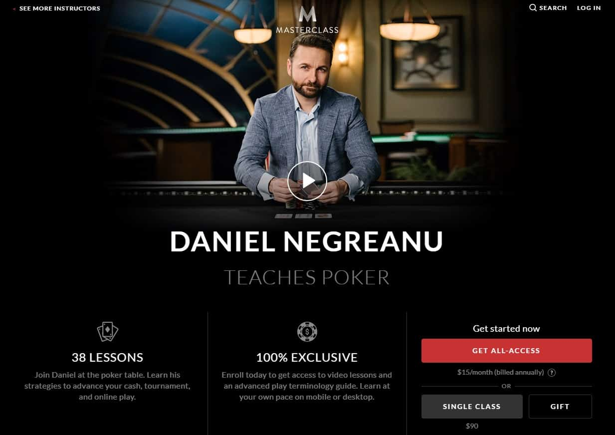 MasterClass Daniel Negreanu Poker Lesson Review