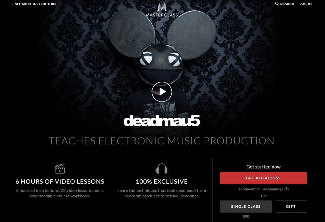 MasterClass Deadmau5 Music Production Lesson Review