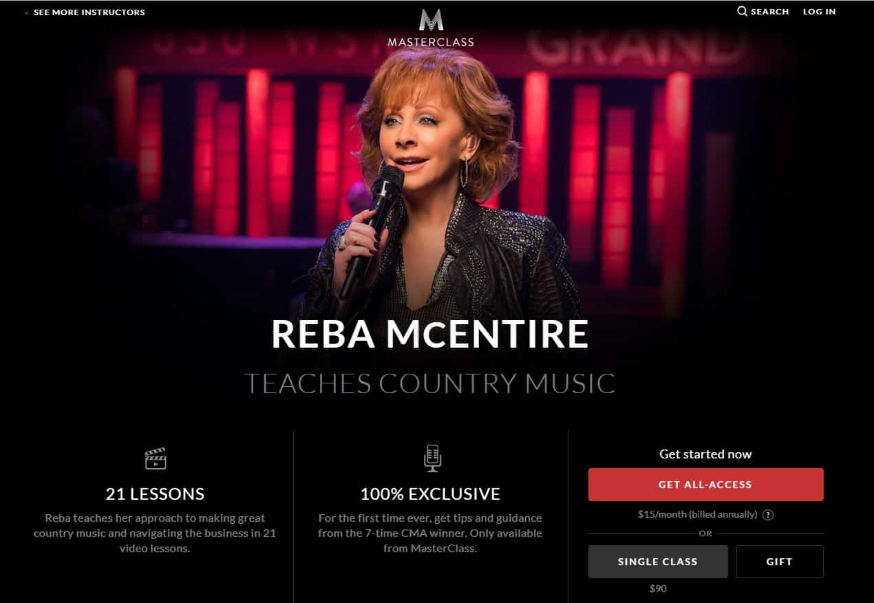MasterClass Reba McEntire Country Music Lesson Review