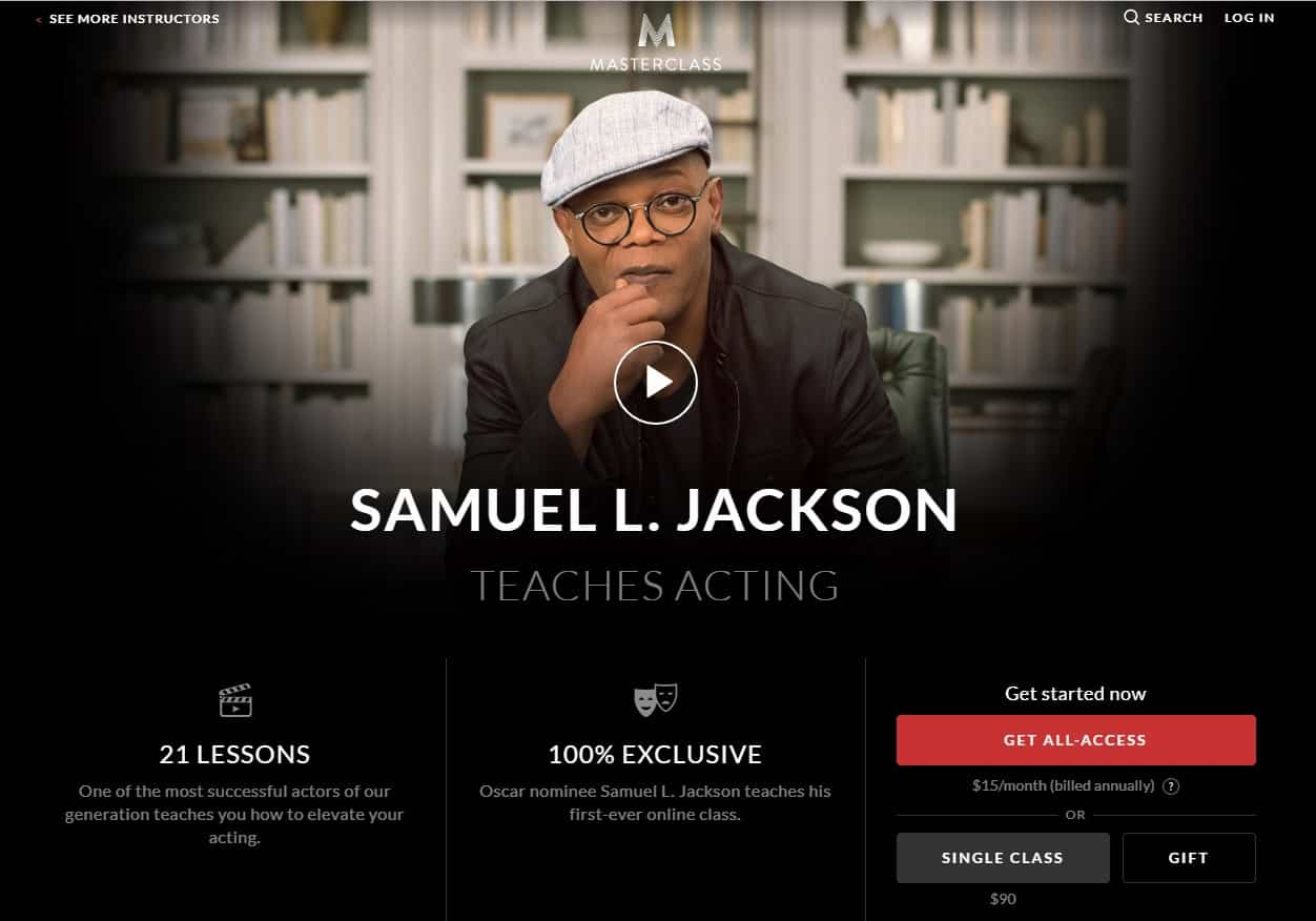 MasterClass Samuel L. Jackson Acting Lesson Review