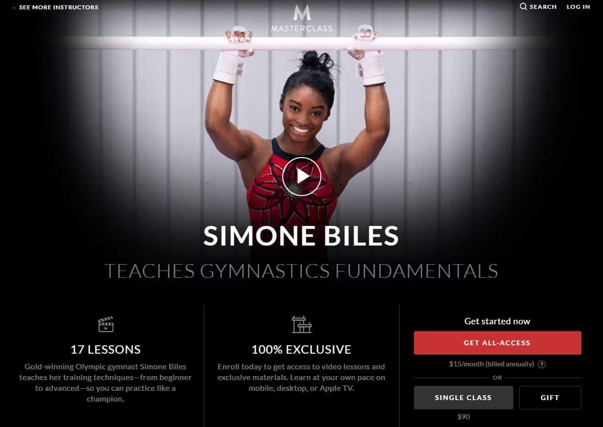 MasterClass Simone Biles Gymnastics Fundamentals Lesson Review