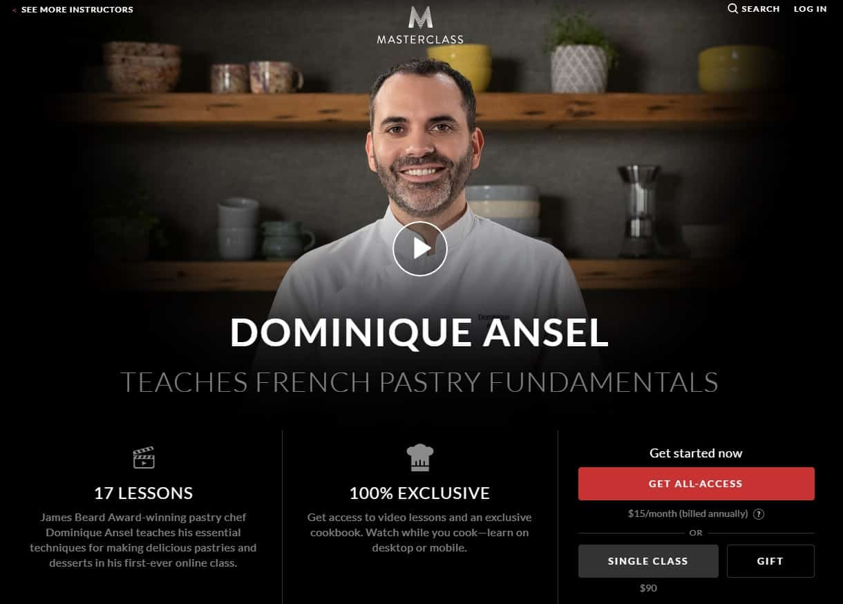 MasterClass Dominique Ansel French Pastry Fundamentals Lesson Review