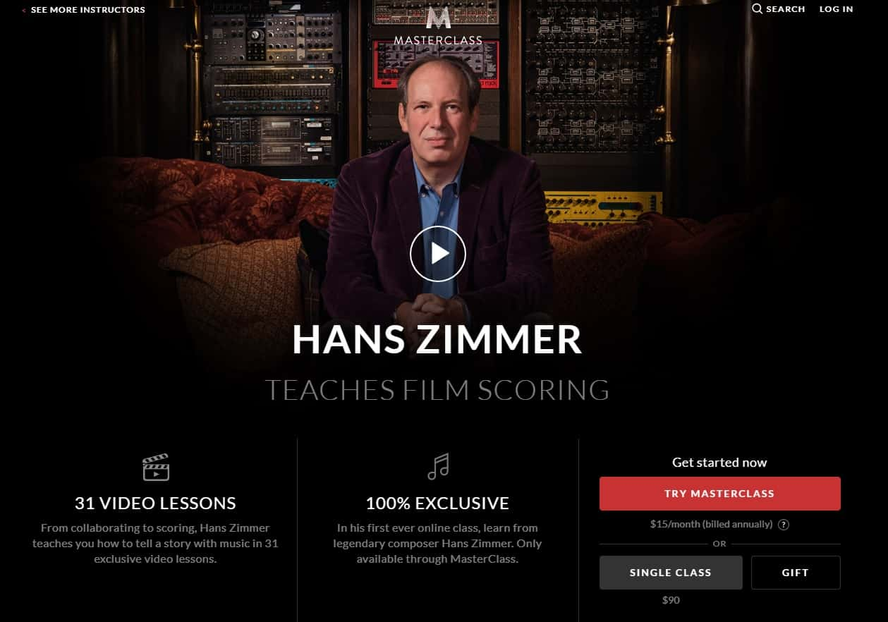 MasterClass Hans Zimmer Film Scoring Lesson Review