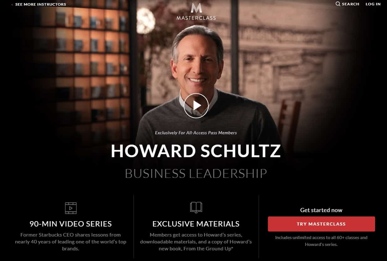 MasterClass Howard Schultz Business Leadership Lesson Review