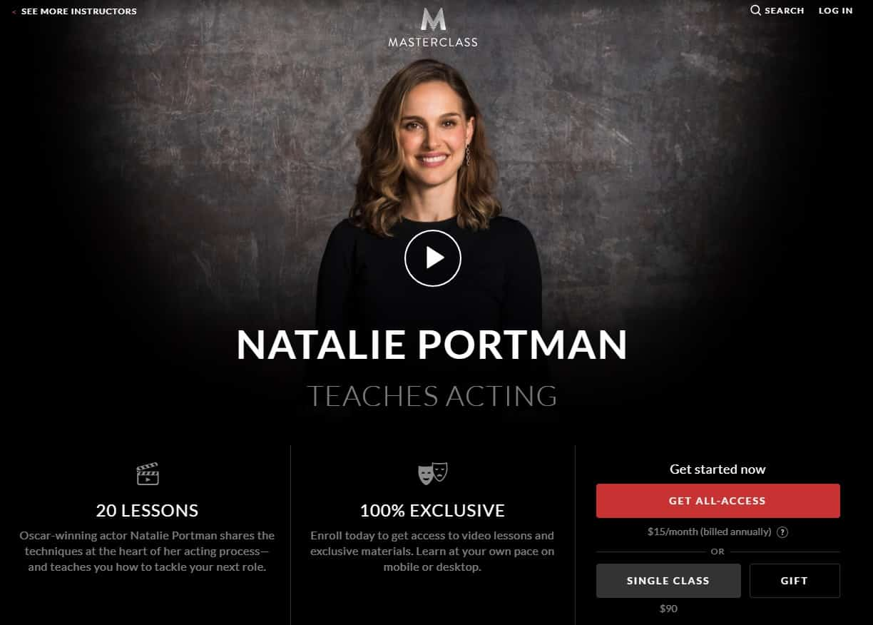 MasterClass Natalie Portman Acting Lesson Review