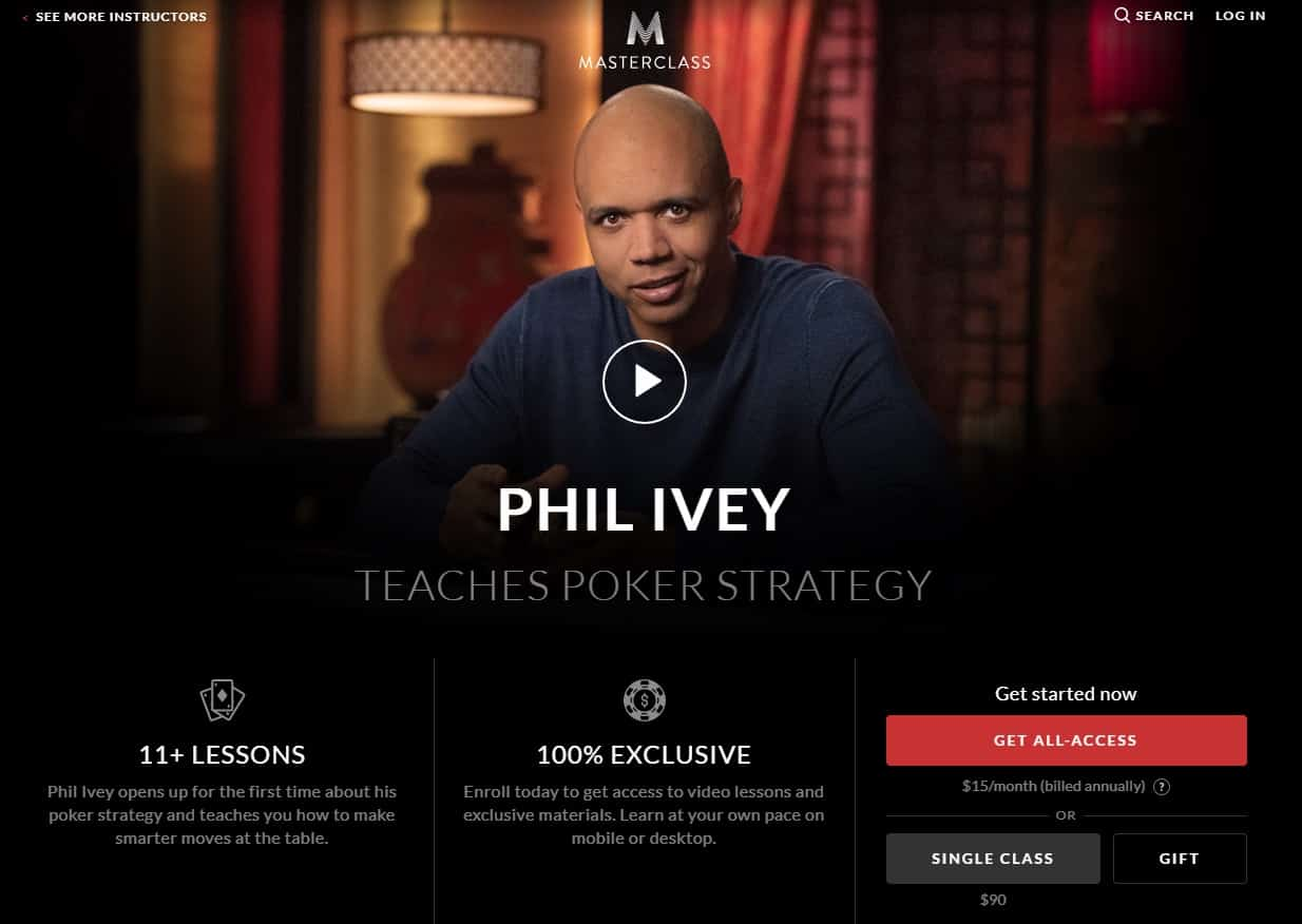 MasterClass Phil Ivey Poker Strategy Lesson Review