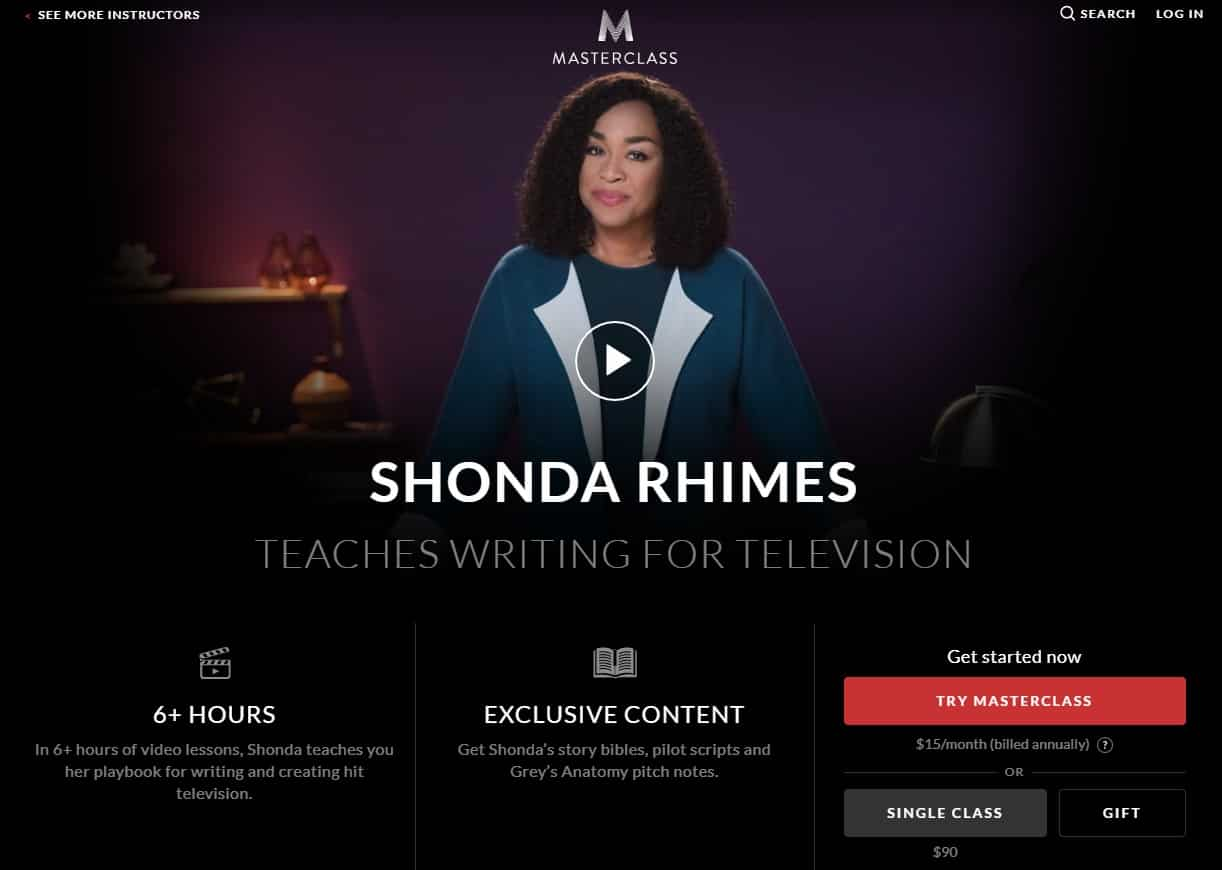 MasterClass Shonda Rhimes Writing for Television Lesson Review