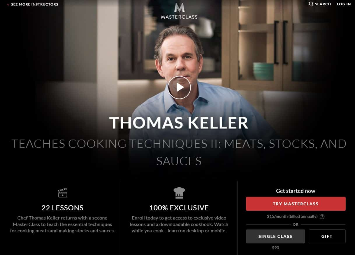 MasterClass Thomas Keller Cooking Techniques ll Meats Stocks and Sauces Lesson Review