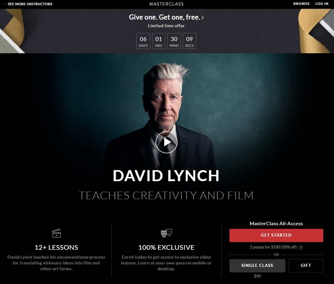 MasterClass David Lynch Creativity and Film Lesson Review