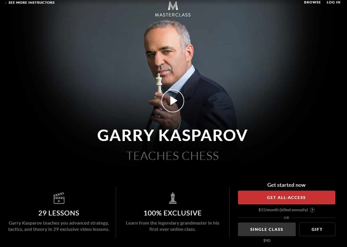MasterClass Garry Kasparov's Chess Lesson Review