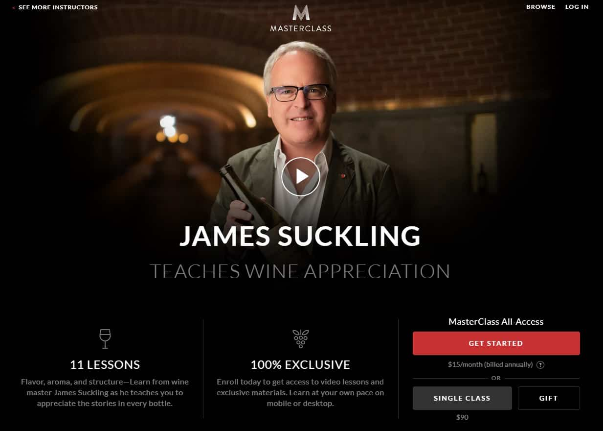 MasterClass James Suckling's Wine Appreciation Lesson Review