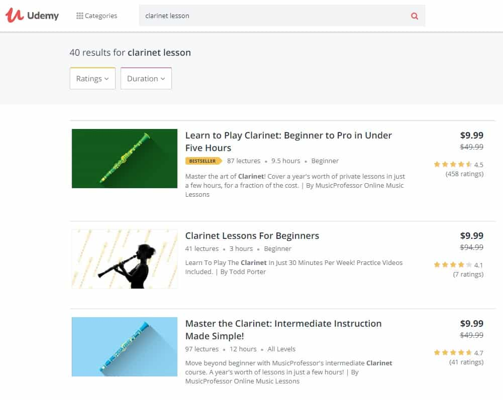 Udemy Clarinet