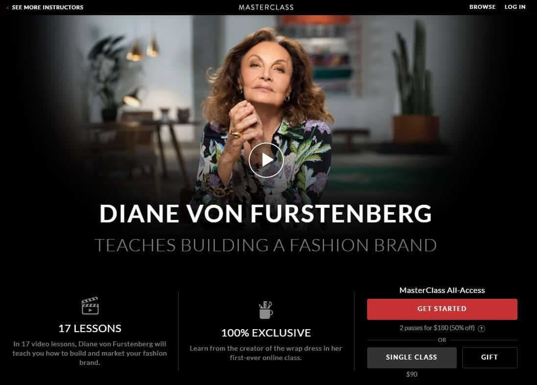 MasterClass Diane Von Furstenberg Building A Fashion Brand Lesson Review