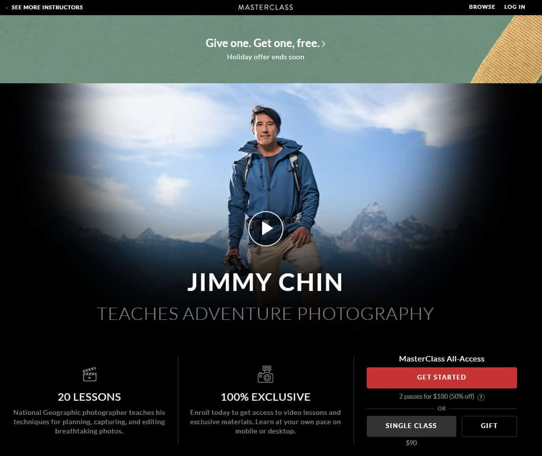MasterClass Jimmy Chin Adventure Photography Lesson Review