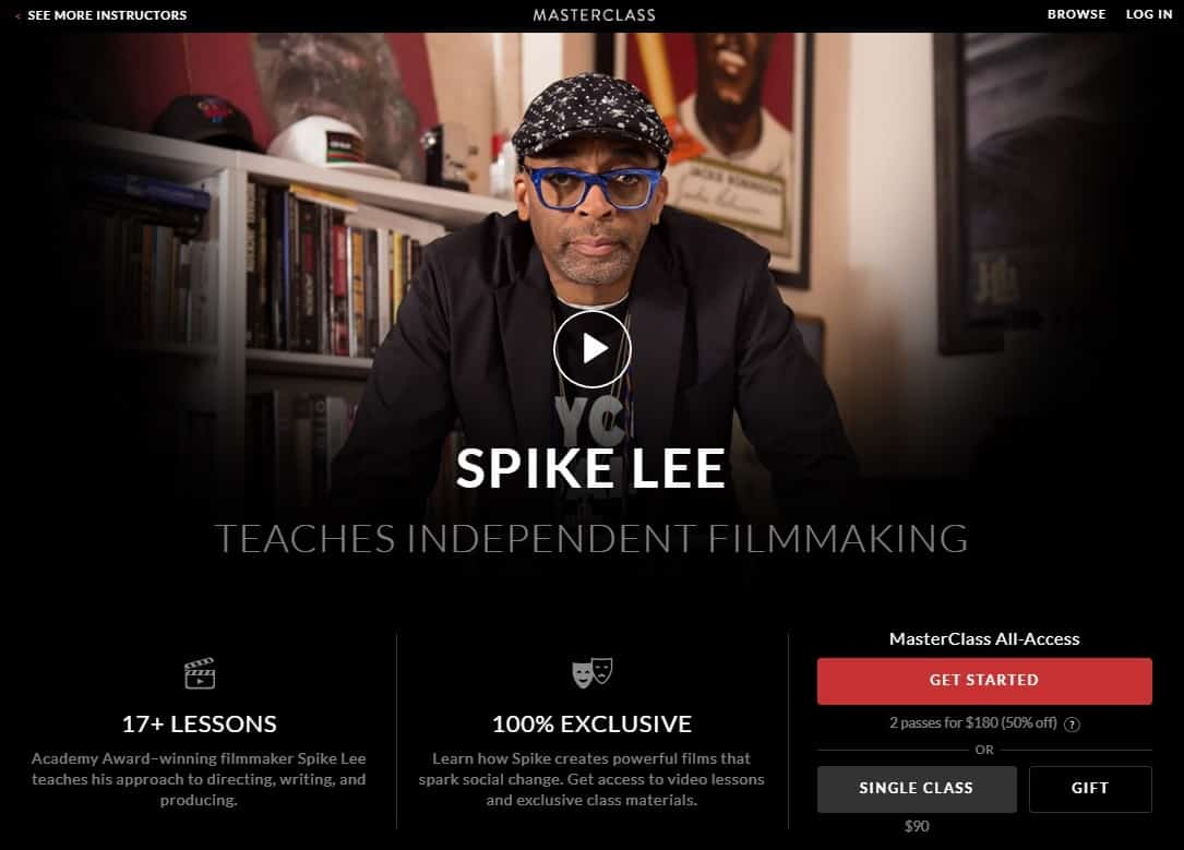 MasterClass Spike Lee Independent Filmmaking Lesson Review