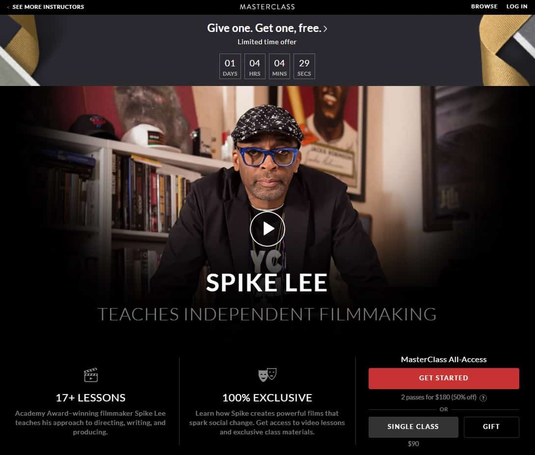 MasterClass Spike Lee's Independent Filmmaking Lesson Review