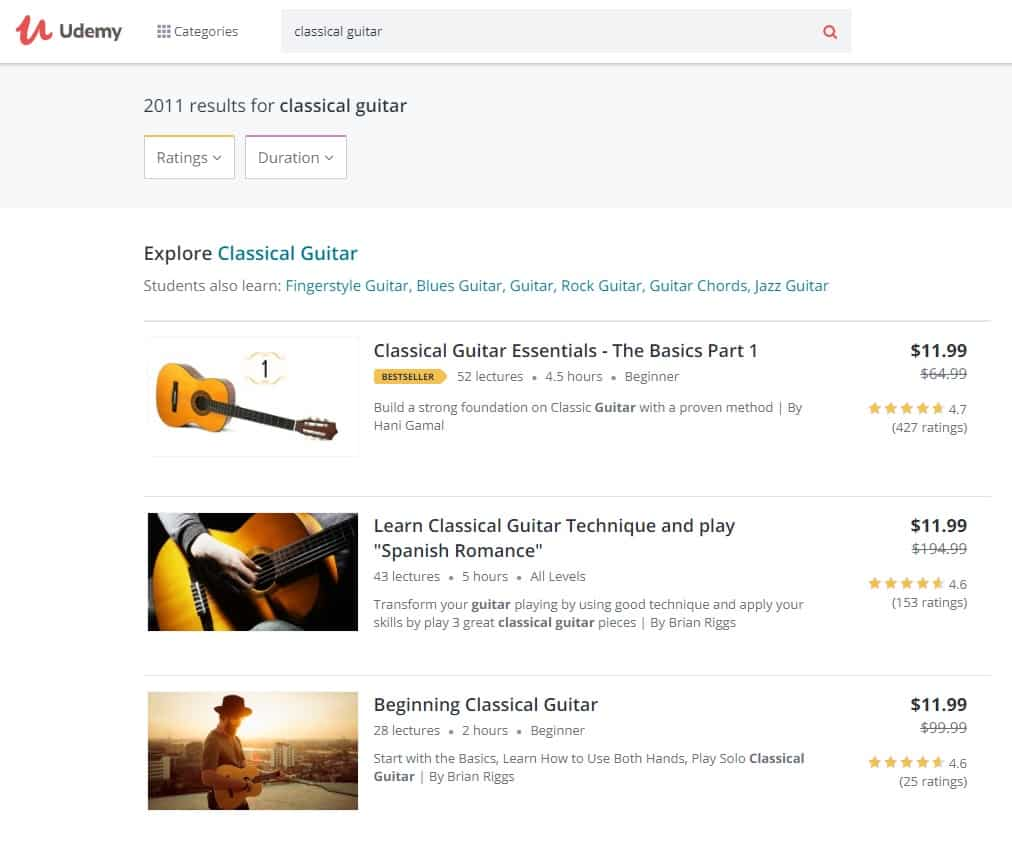 Udemy Classical Guitar