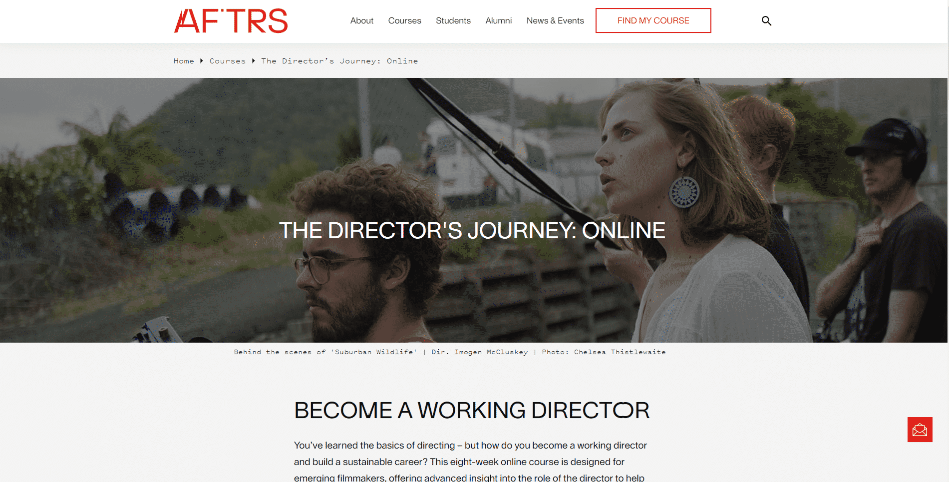 AFTRS Learn Directing Lessons Online