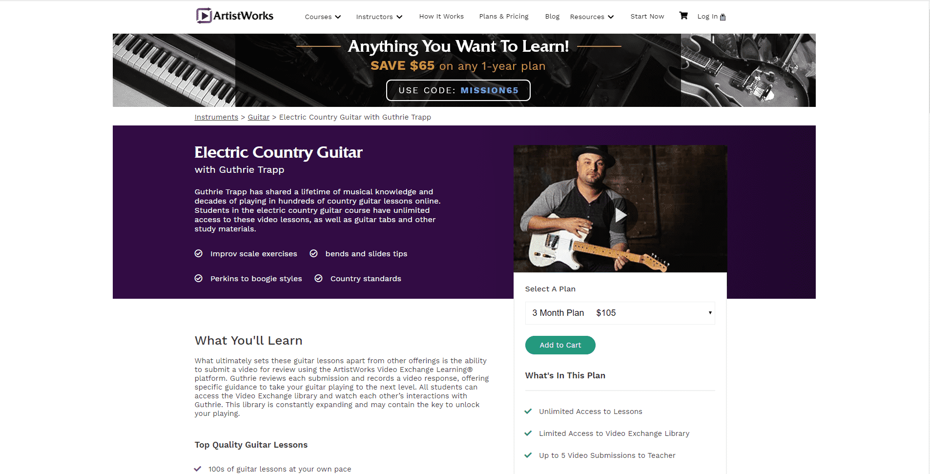 Artistworks – Country Music Guitar Lessons
