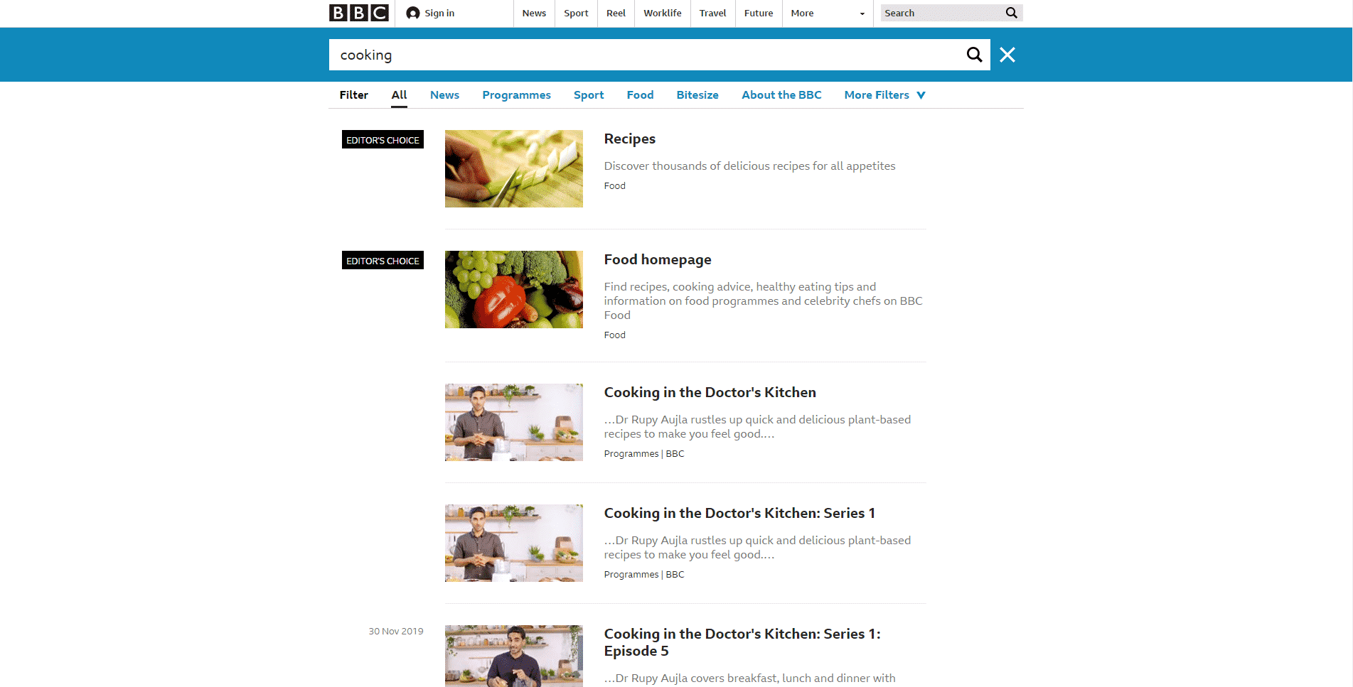 BBC Learn Cooking Lessons Online