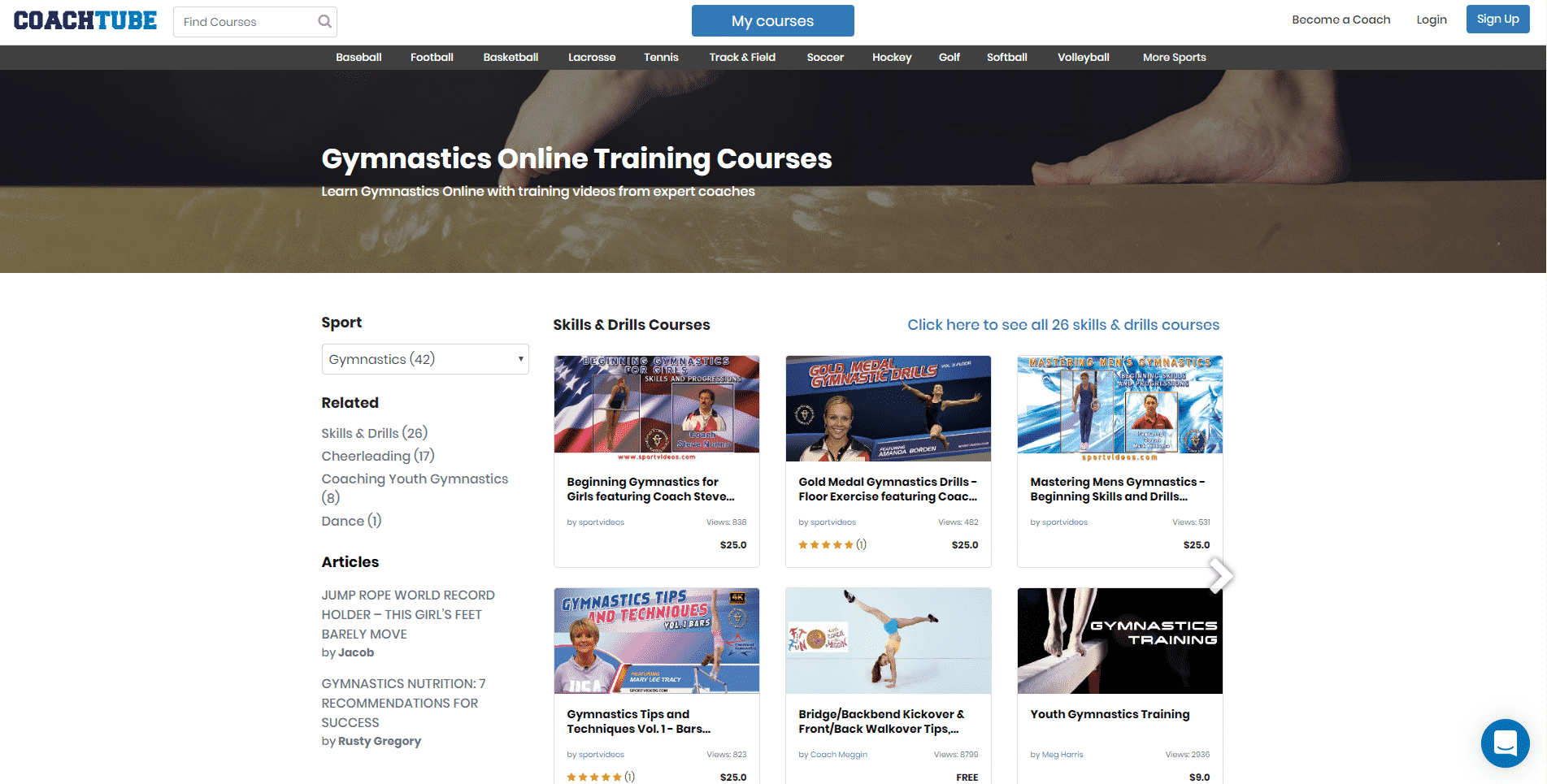 Coachtube Learn Gymnastics Lessons Online
