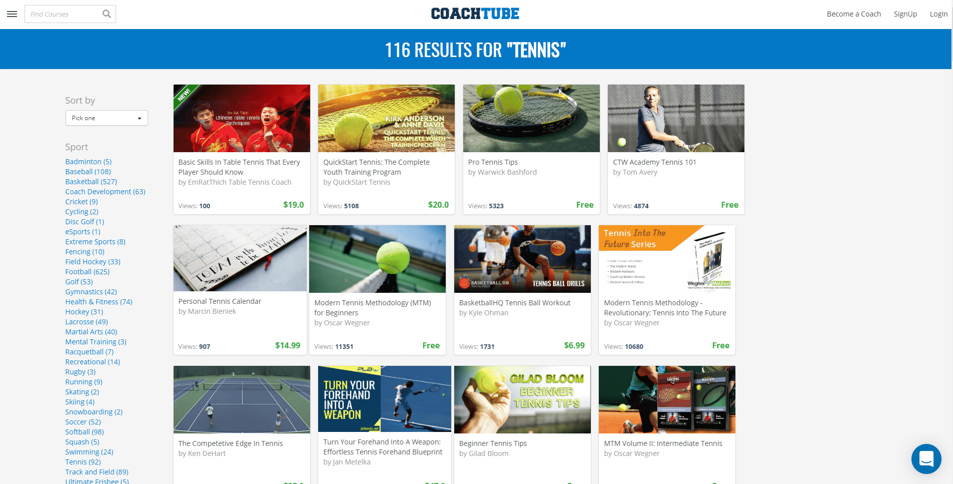 Coachtube.com – Tennis Lessons Online
