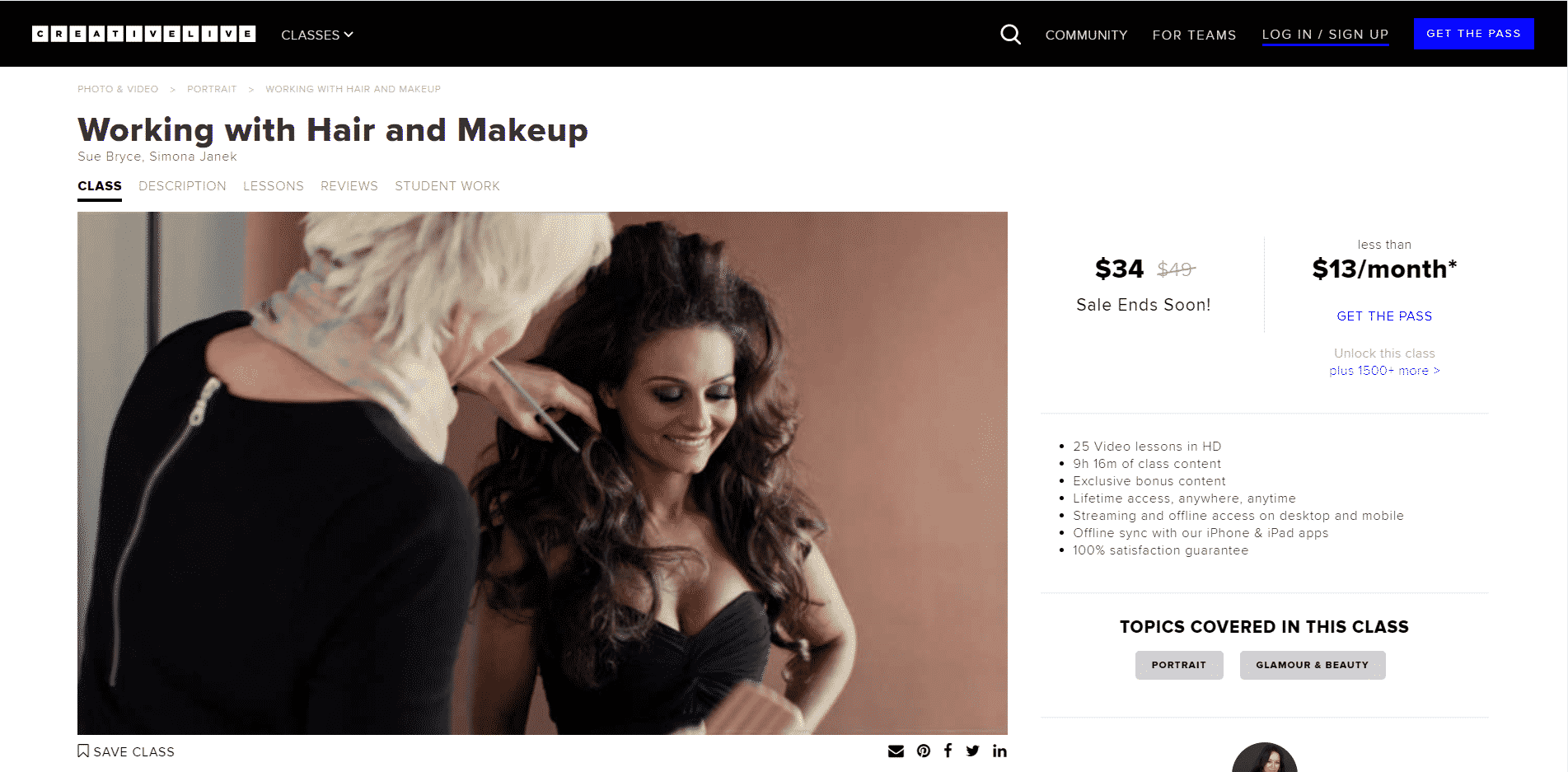 Creative Live Learn Makeup and Beauty Lessons Online