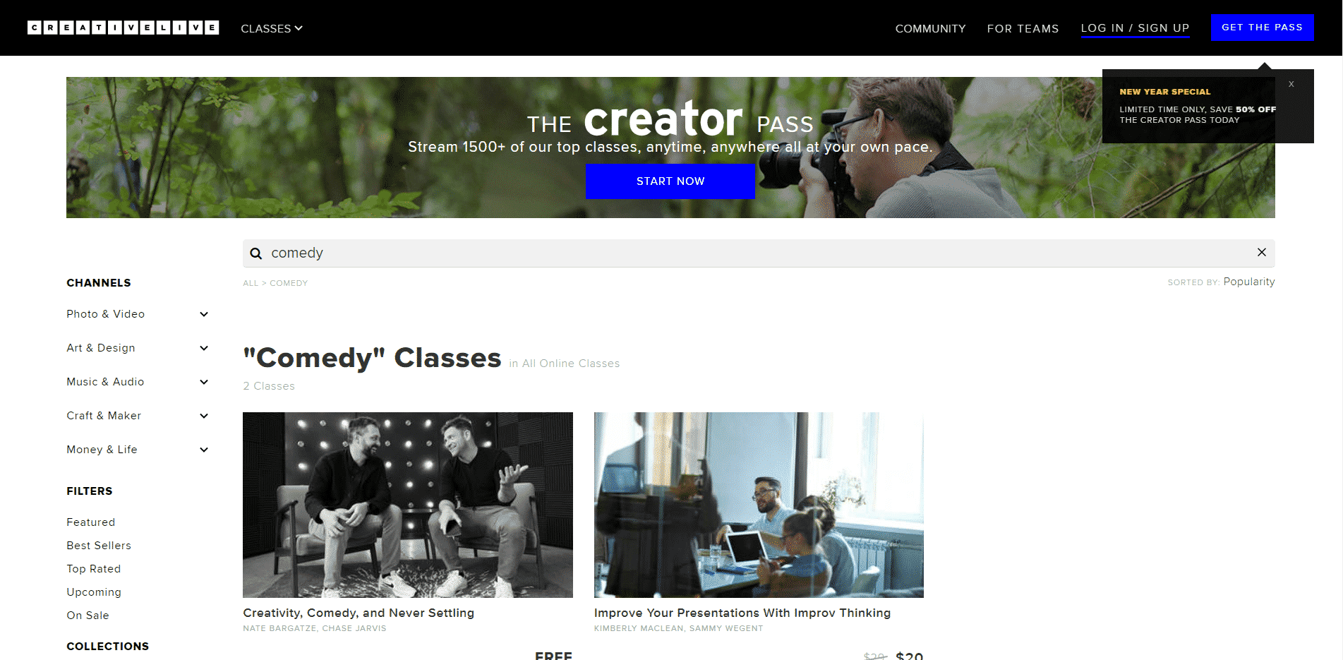 Creativelive Learn Comedy Lessons Online