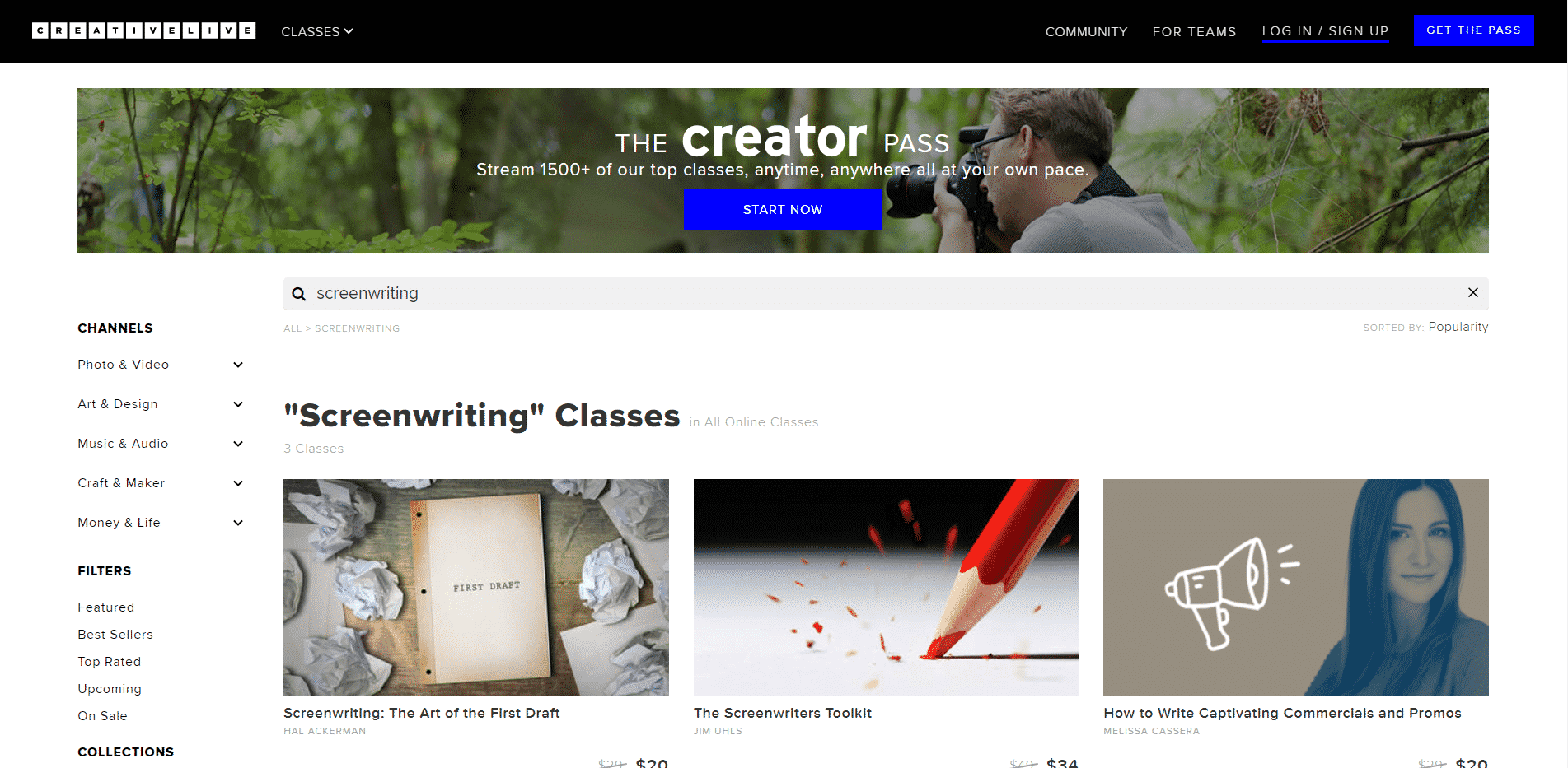 Creativelive Learn Screenwriting Lessons Online