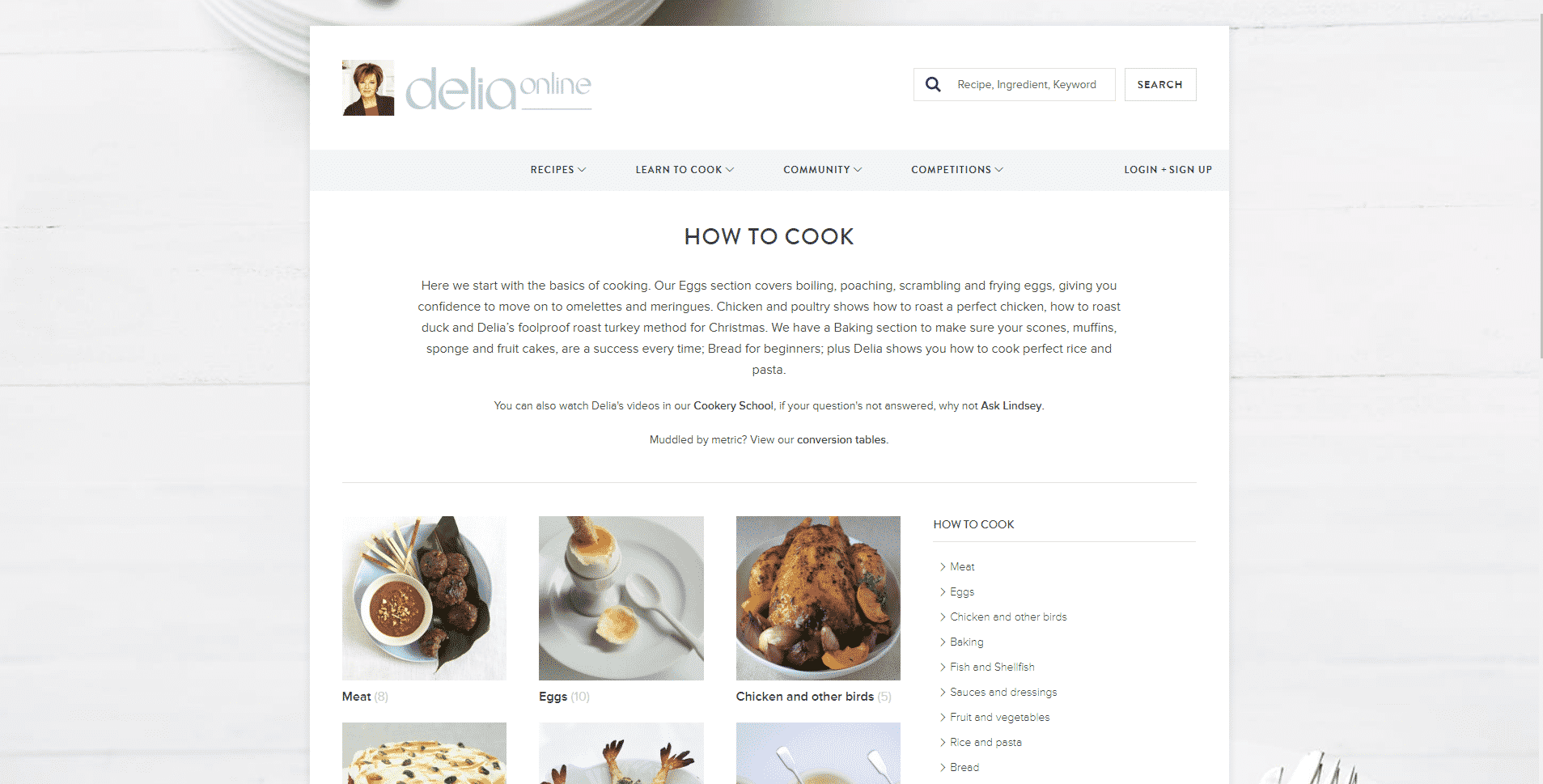 Delia Online Learn Cooking Lessons Online