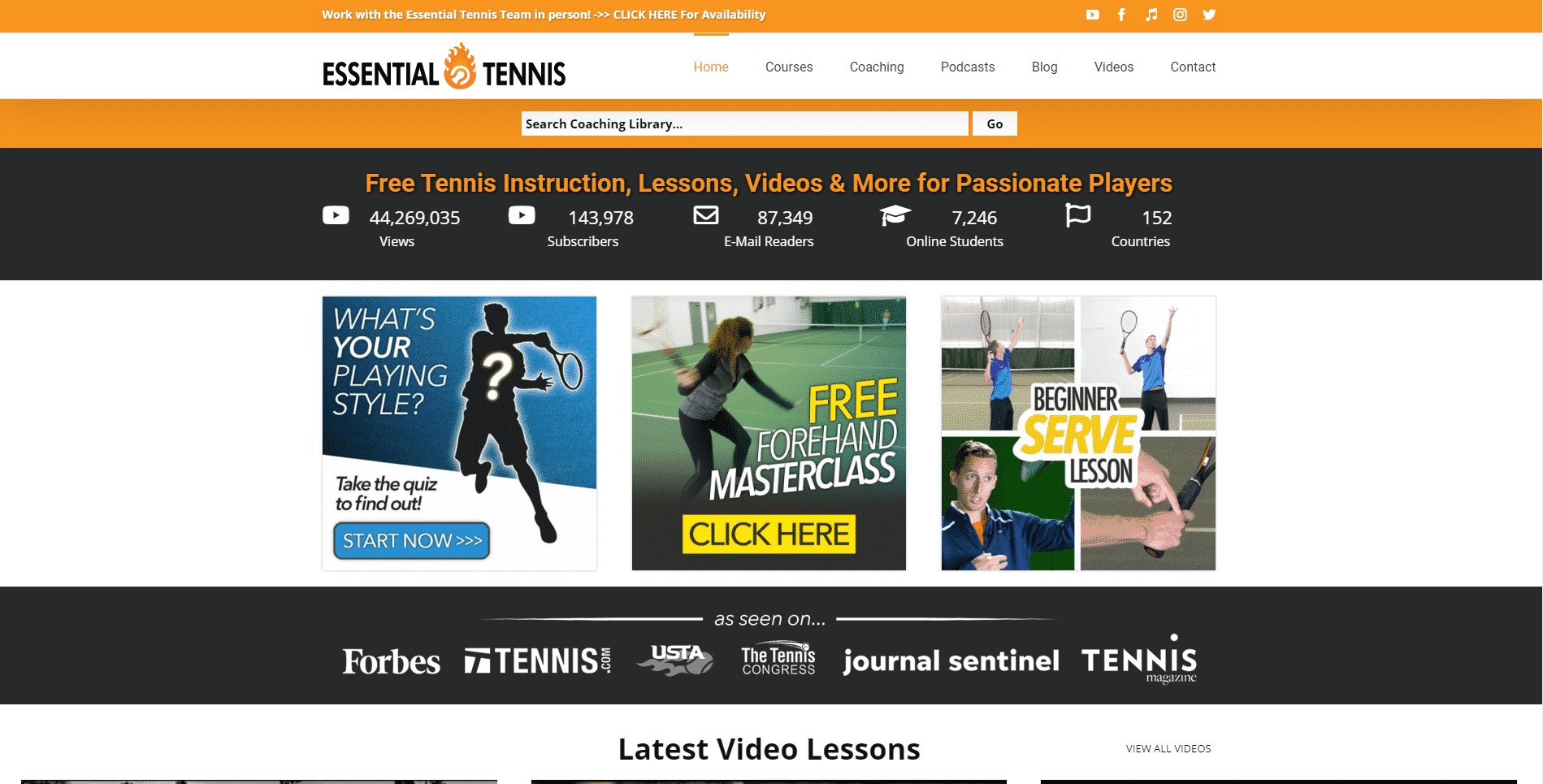 Essential Tennis – Online Lessons