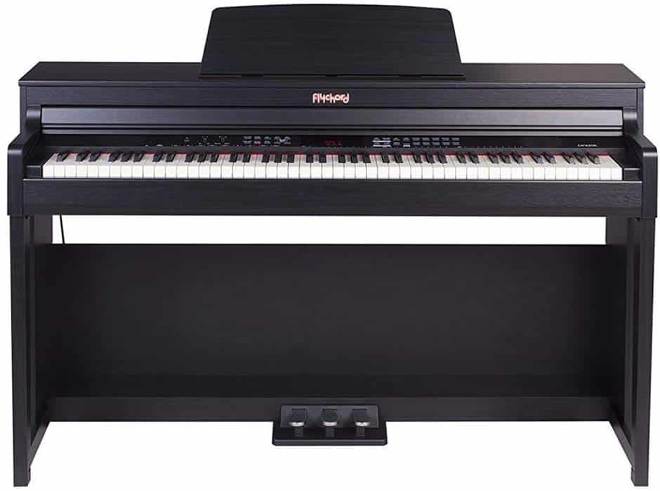 FLYCHORD Digital Piano DP420K Featured with Three Triple Sensor Hammer Action