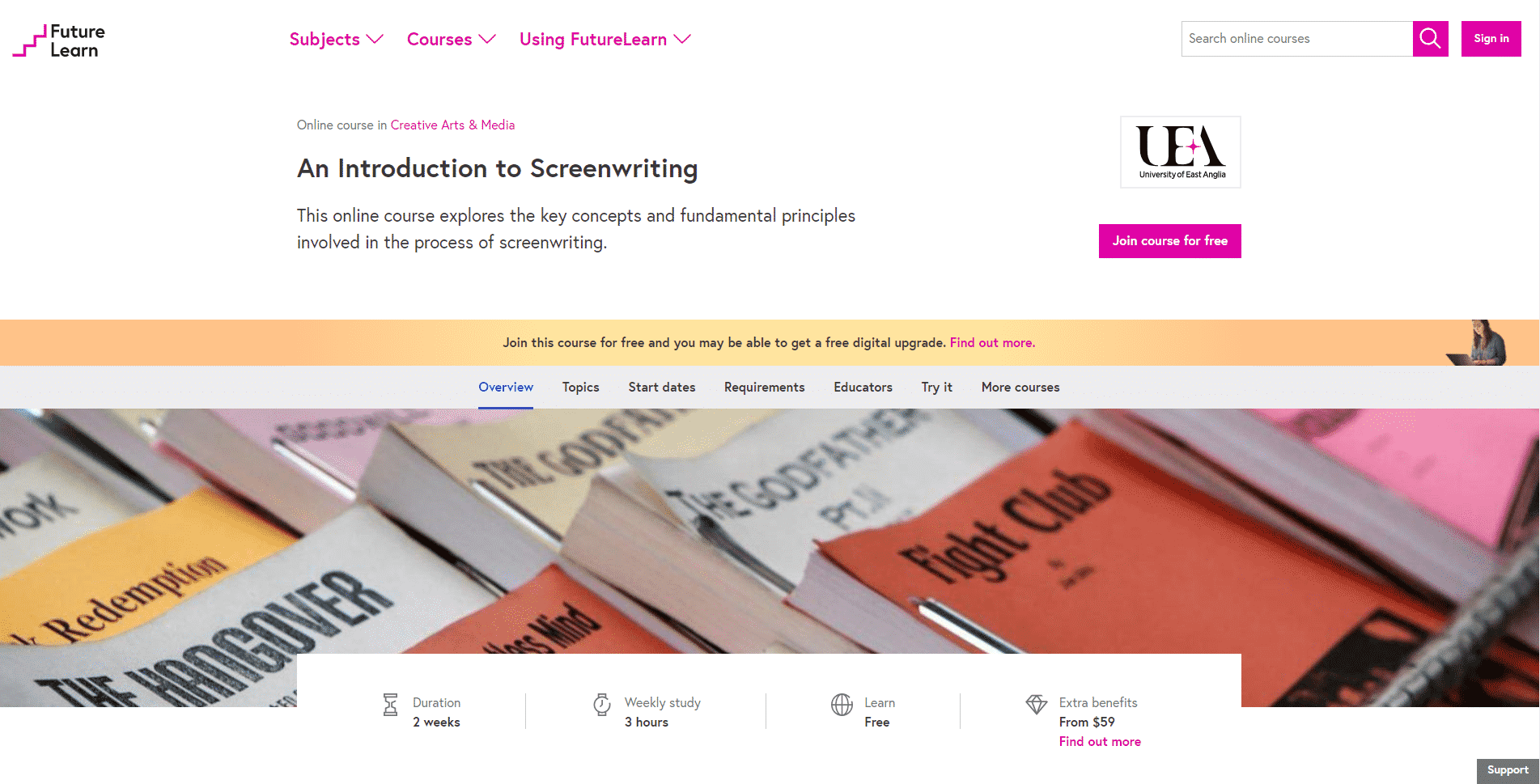 Futurelearn Learn Screenwriting Lessons Online