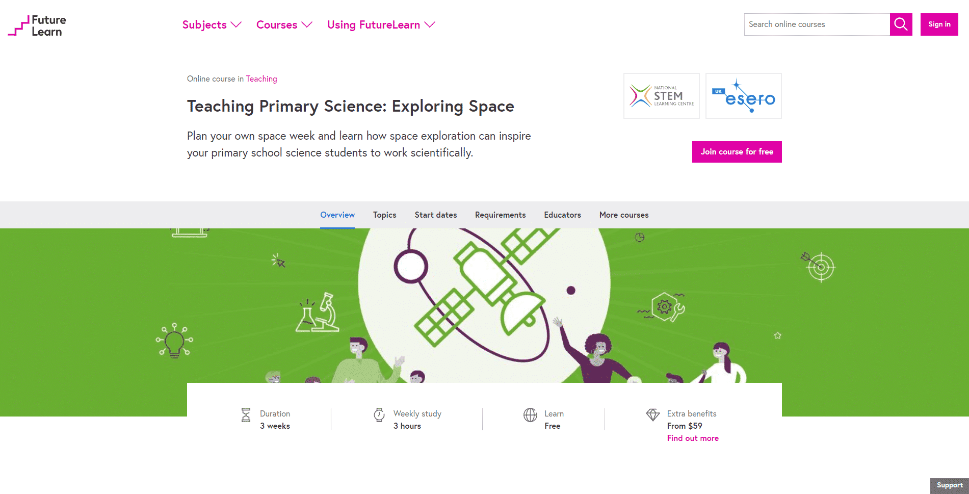 Futurelearn Learn Space Exploration Lessons Online