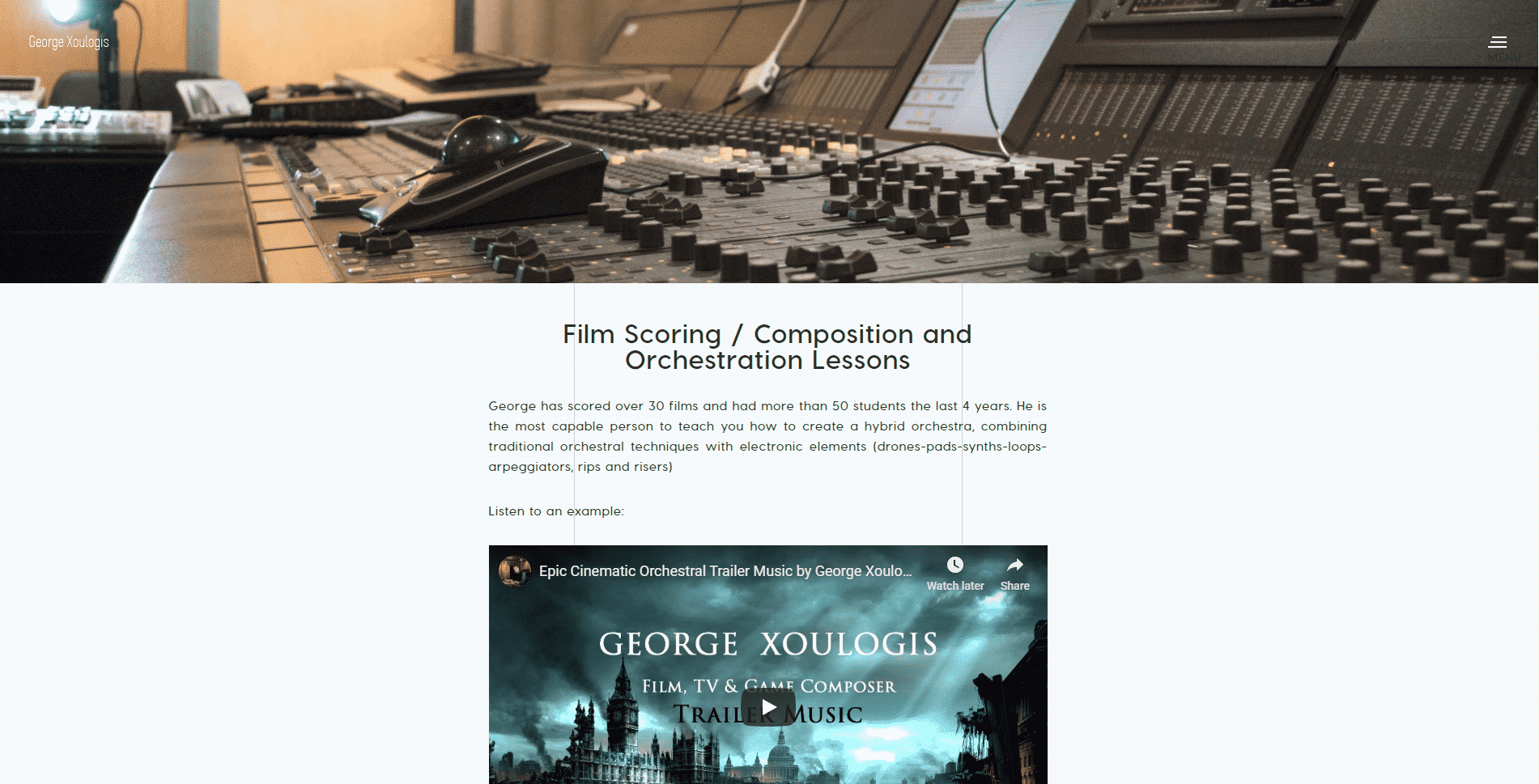 Georgexoulogis Learn Film Scoring Lessons Online