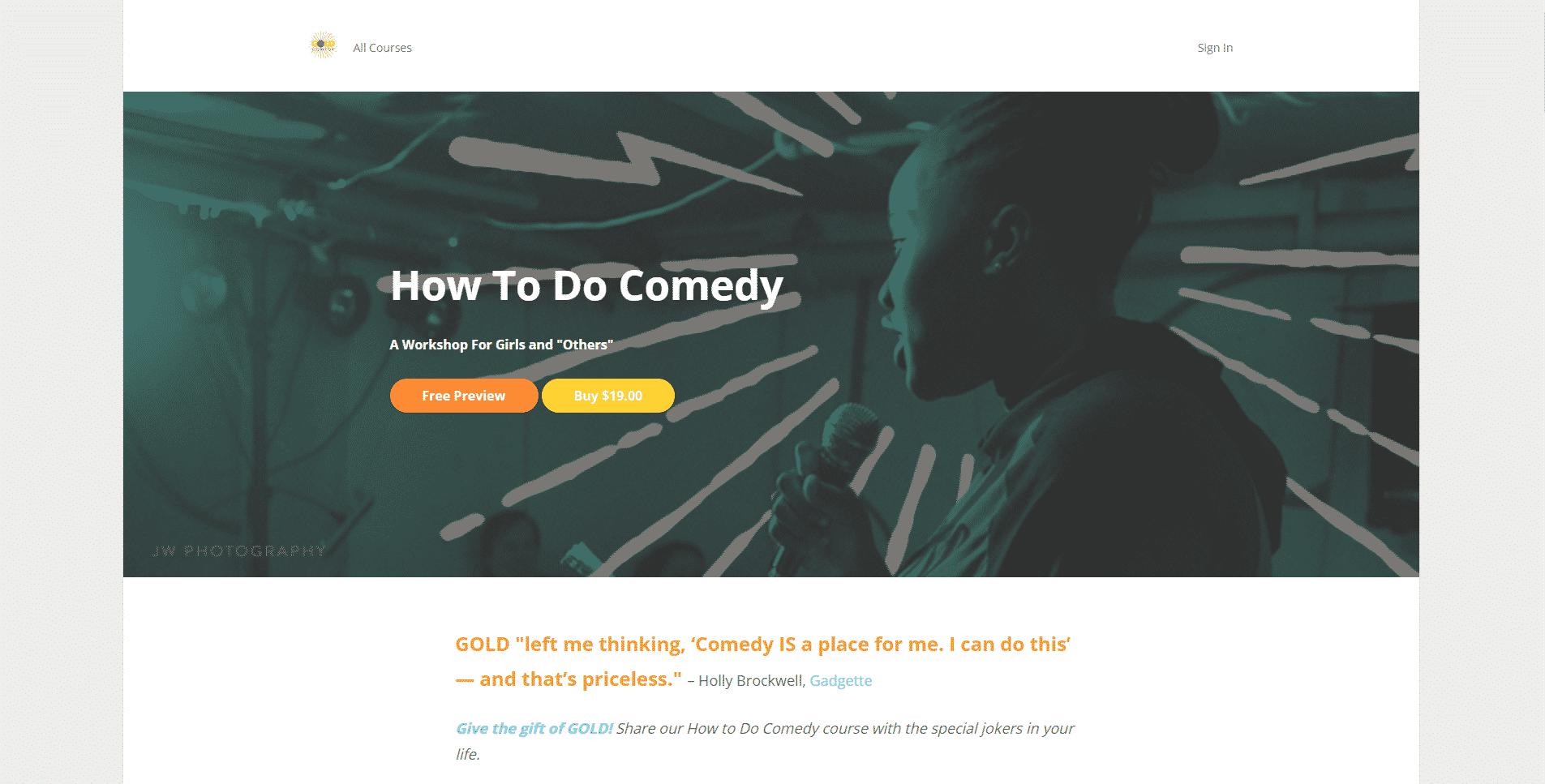 Gold Comedy Learn Comedy Lessons Online
