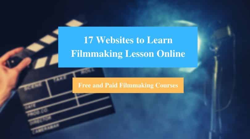Learn Filmmaking Lesson Online