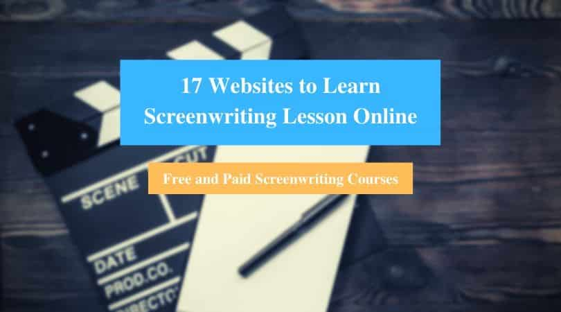Learn Screenwriting Lesson Online