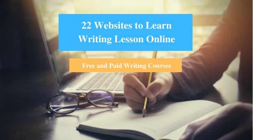 Learn Writing Lesson Online