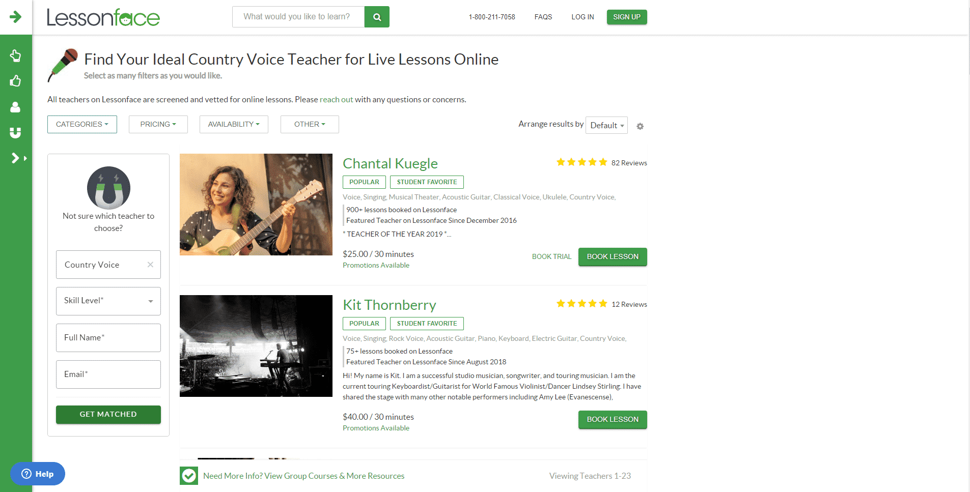 Lesson Face – Country Music Lessons Online